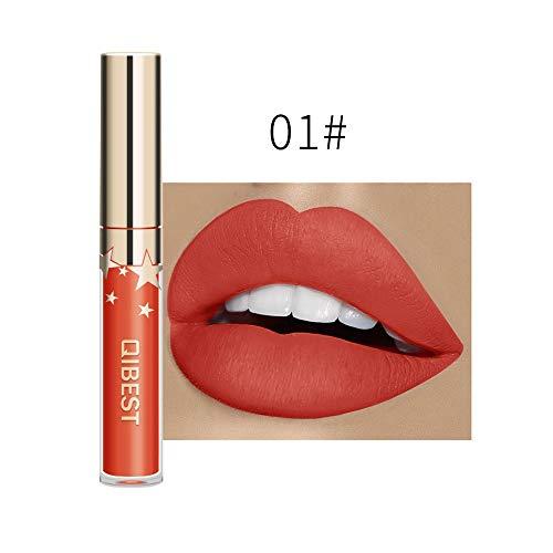 Lippenstift matt wasserfest,IMJONO 2019 Jubiläum Göttin lippenstift langanhaltende Lippenwäsche-flüssiger Lippenstift-wasserdichter Lippenglanz-Make-up(one size,Weiß-A) -