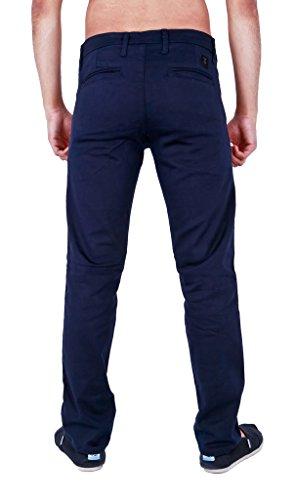 ZICO Jean Slim Fit stretch Pantalon Chino en sergé Bleu - Bleu marine