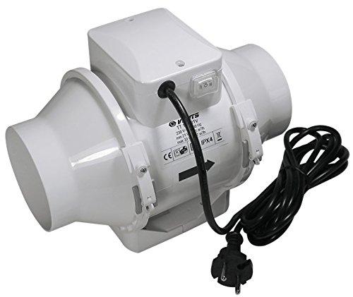 Vents Axial-Rohrlüfter TT100RV1, Ø 100mm 2-stufig 145 - 187m³/h