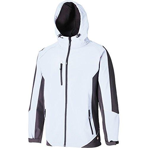 Weiße Wasserdichte Herren Jacke (Dickies Softshell-Jacke, 1 Stück, XL, weiß/grau, JW7010 WGYXL)