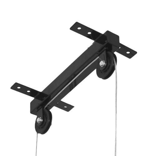 GORILLA SPORTS® Latzug zur Deckenbefestigung 30/31 mm - Kabelzug mit Griffstange bis 150 kg belastbar Schwarz