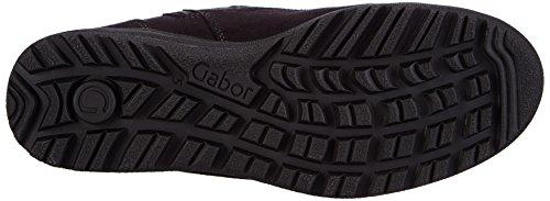 Gabor Comfort Basic 36.748, Bottes Classics de hauteur moyenne, doublure chaude femme Noir - Schwarz (schwarz (Webl.) 67)