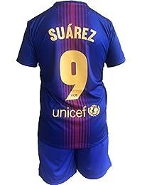c98ccac06e3239 FCB Completo Barcellona Luis Suarez 9 Replica Autorizzata Barcelona  Ufficiale Bambino Adulto 2017-2018 (