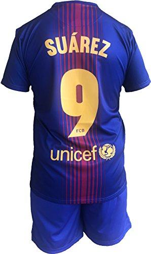 9a8850c95 FCB Completo Barcellona Luis Suarez 9 Replica Autorizzata Barcelona  Ufficiale Bambino Adulto 2017-2018 (