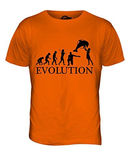 CandyMix Aquarium Evolution Des Menschen Herren T Shirt Orange