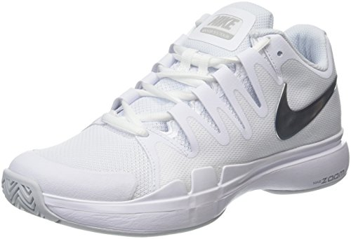 Nike Damen Wmns Zoom Vapor 9.5 Tour Tennisschuhe, Weiß (White/Metallic Silver), 40.5 EU