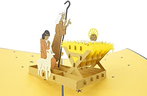 PopLife Cards Crèche de de de Noël 3d pop up carte de voeux - histoire de crèche, bébé Jésus, famille sainte - plis à plat pour l'envoi - fête de fête, cadeau d'église, stuffer de bas B074RB459H  b5f9a5