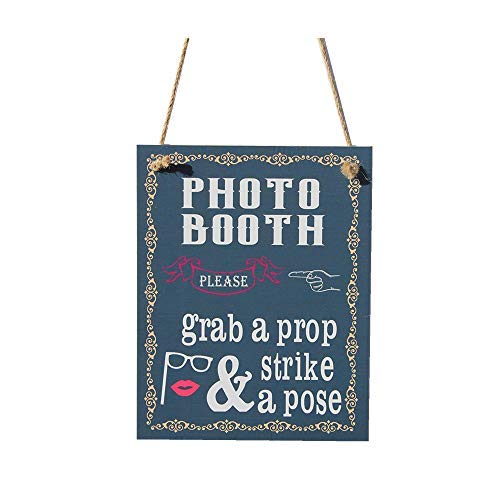 chuanghe3943 Photo Booth Grab A Prop Strike A Pose Chalk Sign (A Booth Pose Photo Strike)