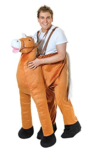 Erwachsene Für Jumpsuit Kostüm Pferde - Bristol Novelty AC240 Pferd Kostüm, Mehrfarbig, 38/40-Inch Waist Size