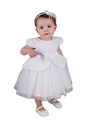 94d8b96ecc1a2 Boutique-Magique Robe de baptême Blanche bébé et Petite Fille