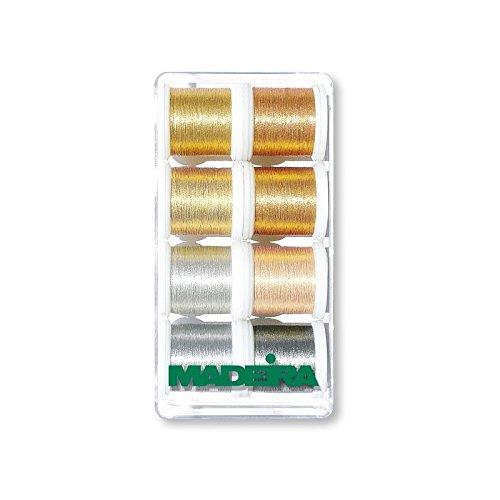 MADEIRA Geschenkbox: Metallic: Smooth: 8 x 200m: Spulen -