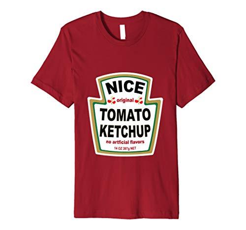 Ketchup Kostüm T Shirt Passende senf Mayo Relish Gruppe (Twin-halloween-kostüm-ideen Junge Mädchen)