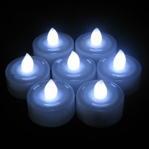 LED vela - SODIAL(R) 12 pzs Sople LED vela para boda fiesta - Color blanco