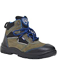 Allen Cooper AC-1110-8-GRY Men's Safety Shoe, Size-8 UK, Gray