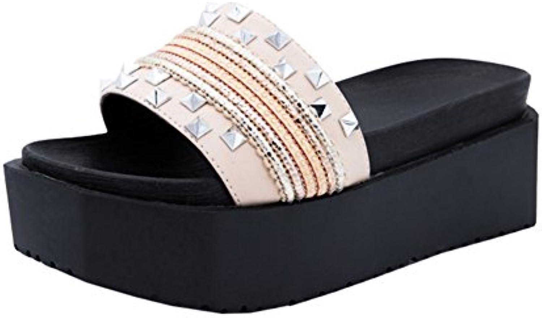 QIDI Sandali Donna Moda Nero rosa All'aperto Sportivo Pantofole ( Coloreee   T2 , dimensioni   EU39 UK6 ) | I Materiali Superiori  | Uomo/Donna Scarpa