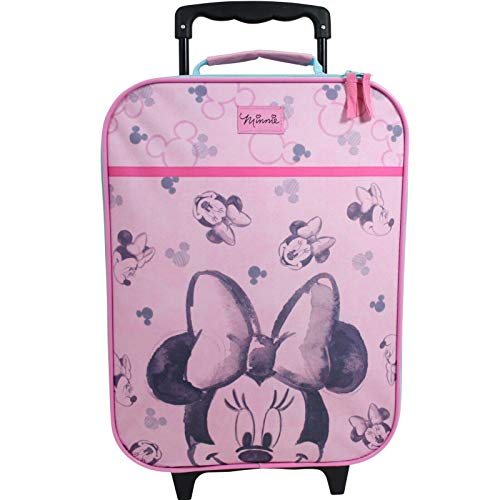 Valigia per Bambini Valigia Trolley Bagaglio a Mano Borsa Ragazze Disney Minnie Mouse