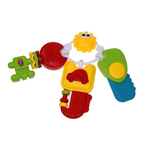 MagiDeal Baby Beißring Schlüssel geformte Krippe Spielzeug Rasseln Handys hängen Spielzeug mit Musik Licht