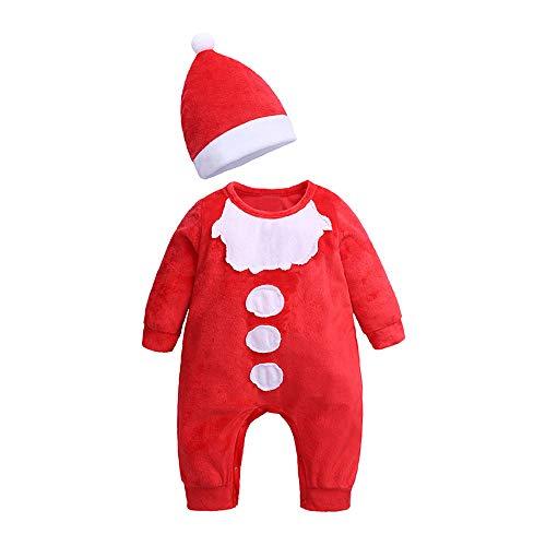 ALISIAM Winter Weihnachten Cyber Monday Baby Kleiner Junge Kleine schön Mode Gemütlich Hautfreundlich Warm halten Santa Cosplay Mit Hut Strampelhöschen Kriechender Anzug Passen ()
