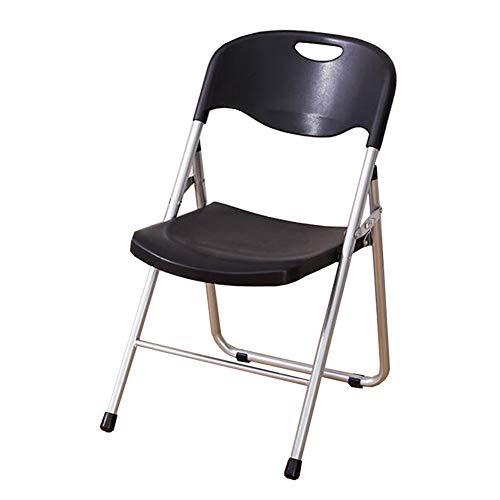Dall Klappstuhl Büro-Empfangsstuhl Kunststoff-Sitz Konferenz Training Stühle Metallrahmen Rückenlehnenstühle (Farbe : Schwarz, größe : 1 Piece)