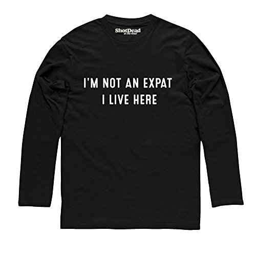 I'm Not An Expat Langarmshirt, Herren Schwarz