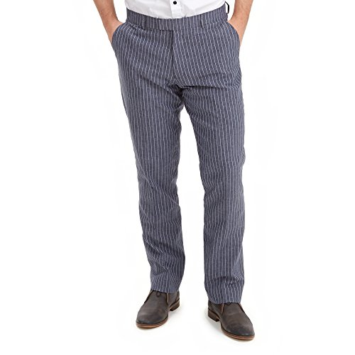 Joe Browns Herren Anzughose Perfect Pinstripe Grau-Grey (A-Grey), 30 W / 32 L (Leinen-pants Gestreifte)