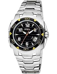 e6a5c7a35ed5 Breil TW0356 - Reloj analógico de caballero de cuarzo con correa de acero  inoxidable plateada - sumergible a 100…