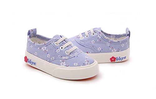 ALUK- Chaussures pour enfants - Ensembles de fleurs florales et chaussures décontractées d'automne ( Couleur : Cowboy blue , taille : 21 ) Cowboy blue