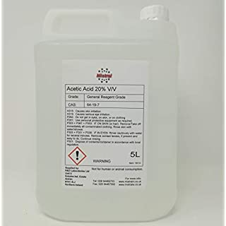 5L Mistral Acetic Acid 20% (Ethanoic Acid) - Descaler, Weed killer, Rust and Limescale Remover