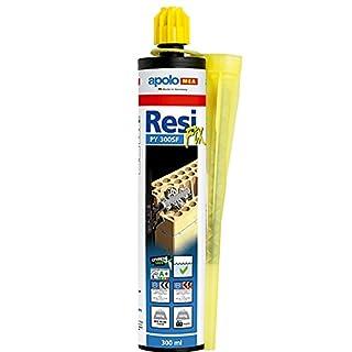 apolo MEA 300CR–Chemische Verankerung ResiFIX PY 300, Polyester 1Kanüle, 12Stück
