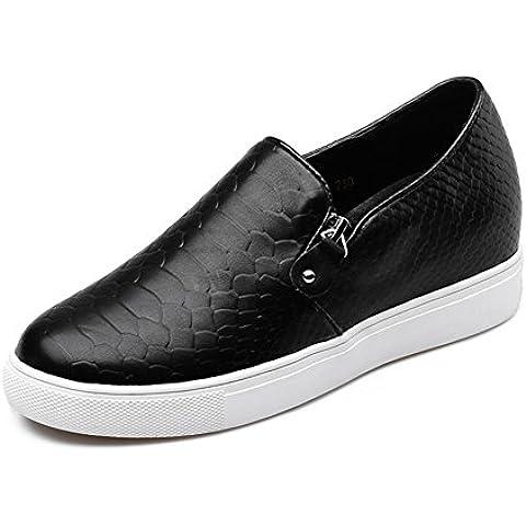 LYF KIU Scarpe casual sono aumentati fondo pesante a tutto tondo/ La signora con Mocassini/ (Martens Womens Sandali)