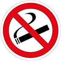 """'Lot de 10stickers Diamètre 10cm """"Fumer interdit, autocollant, rayures et résistant aux intempéries"""
