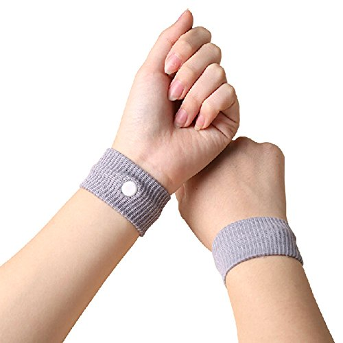 Pack Of 2 Travel sickness anti nausea wristbands motion sickness relief band nausea cure