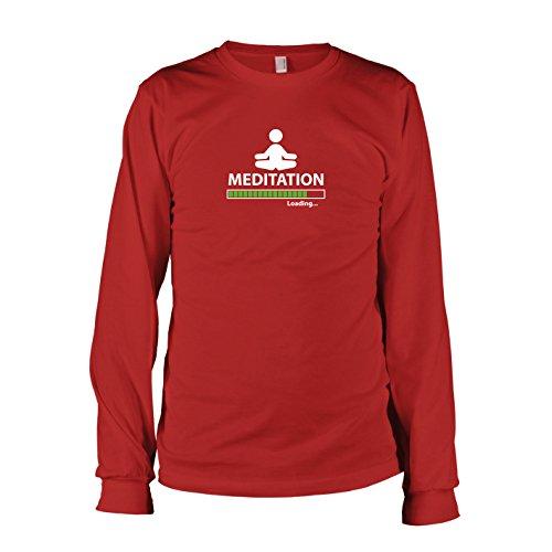 TEXLAB - Meditation Loading - Langarm T-Shirt Rot