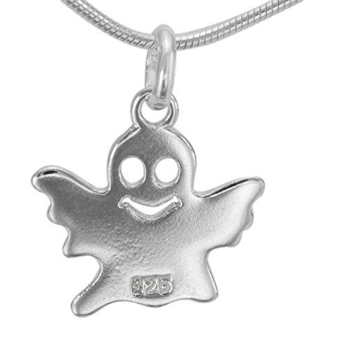 Hochwertige 925 Silber Kettenanhänger Gespenst Geist Phantom Poltergeist Spuk Ghost #1235