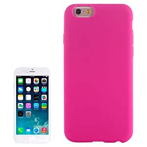 Pure Colour Silicone case for iPhone 6 Plus(Magenta)