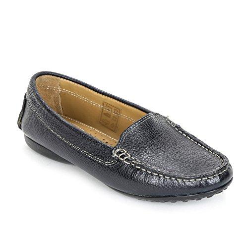 Marina Seval Scarpe&Scarpe - Glatte Mokassins, Leder - 40,0, Blau (Marine-blau-leder-loafer)