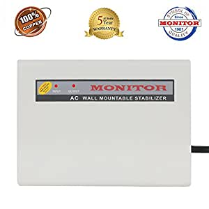 Monitor 5-Kva Wall Mountable Voltage Stabilizer For 2.0 Ton Ac (Copper)