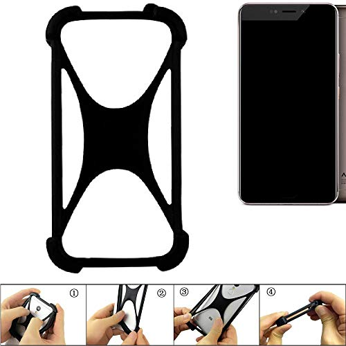 K-S-Trade Handyhülle für Allview X4 Xtreme Schutz Hülle Silikon Bumper Cover Case Silikoncase TPU Softcase Schutzhülle Smartphone Stoßschutz, schwarz (1x)