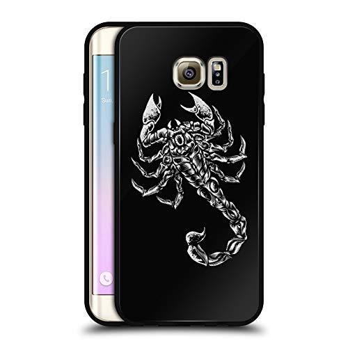 Head Case Designs Offizielle WWE Scorpion Sting Schwarz Rückseiten Hülle aus Hybrid Glass für Samsung Galaxy S7 Edge Scorpion Hybrid