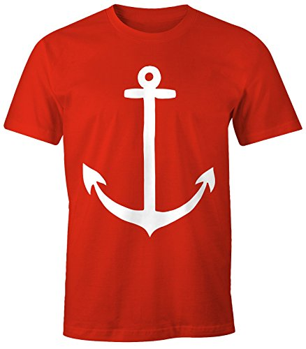 Herren T-Shirt - Anker - Comfort Fit MoonWorks® Rot
