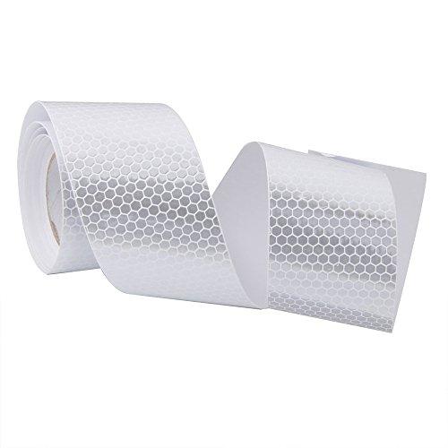 Deanyi Hoch Intensität Weiß Reflektorband selbstklebend 5 cm Vinyl * 3 m