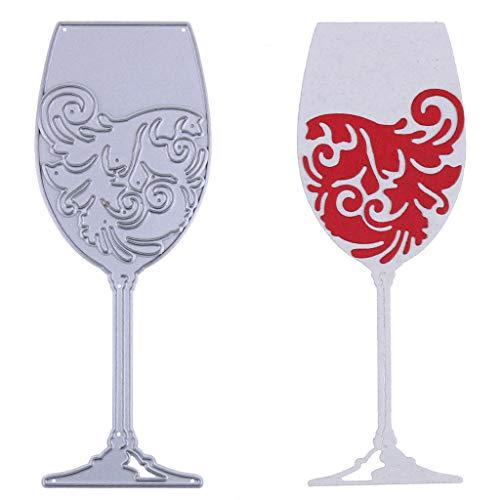 nankod Wein Glas Metall Formen Schablone DIY Scrapbooking Prägung Papier Decor Art