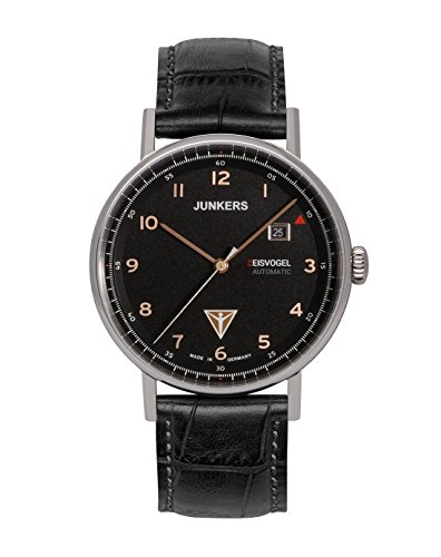 Junkers Herren Analog Automatik Uhr mit Leder Armband 67545