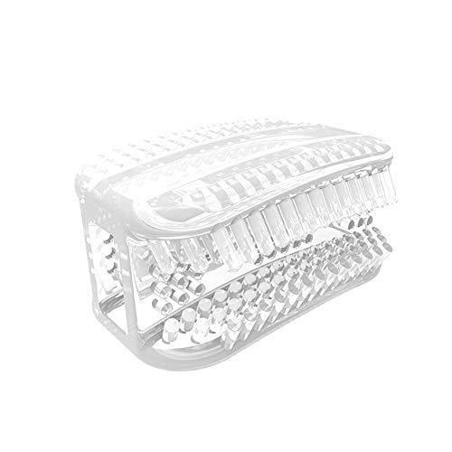 Faule Zahnbürste 1/5-teilig Mini Tragbar 360° Kein Silikon Lazy Zahnbürste Rundum Kaugummi Zahnbürste Weich Reinigung Zahnbürste (5-teilig, Weiß