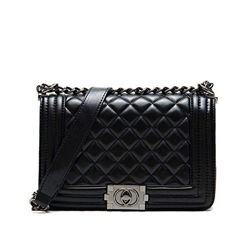 Diagonale Umhängetasche Umhängetaschen Für Frauen Satchel Checkered Designer Cross-Body Tasche Handtaschen (Color : Schwarz, Size : 240x200x110mm) -
