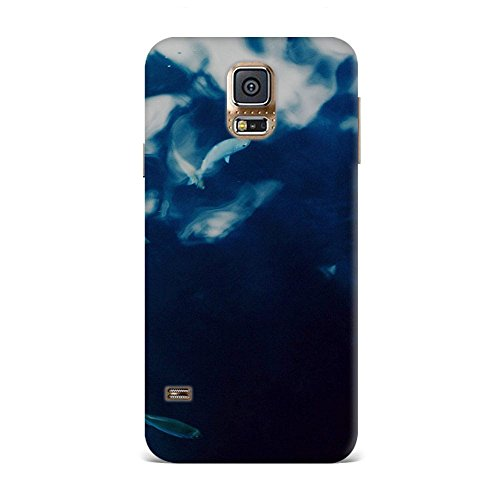 Samsung S5 Case, Samsung S5 Hard Protective SLIM Printed Cover [Shock Resistant Hard Back Cover Case] for Samsung S5 - Water Lake Fish Nature Indigo Blue  available at amazon for Rs.375