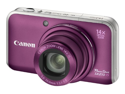Canon PowerShot SX210 IS Digitalkamera (14 MP, 14-fach opt. Zoom, 7.6cm (3 Zoll) Display) violett Canon Stereo