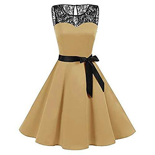 NINGSANJIN Damen Kleid Abendkleid Schulterfreies Cocktailkleid Jerseykleid Skaterkleid Knielang...
