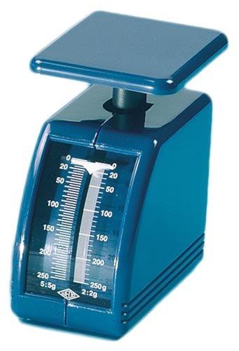 Wedo 249862003 Federwaage Handy (250 g, mechanische Brief- und Diätwaage (aus Kunststoff, abnehmbare Schale) blau