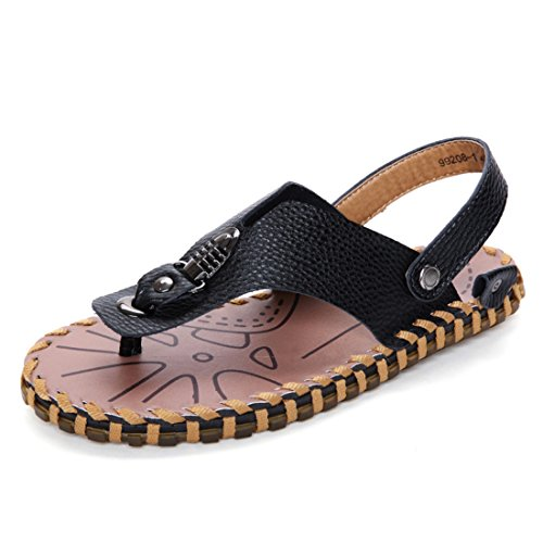 Men's Chaussure Outdoor Genuine Leather Sandals Black
